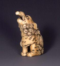 Standing Ivory Baku, unsigned, 18th century