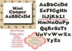 Mini Cooper Embroidery Design Alphabet