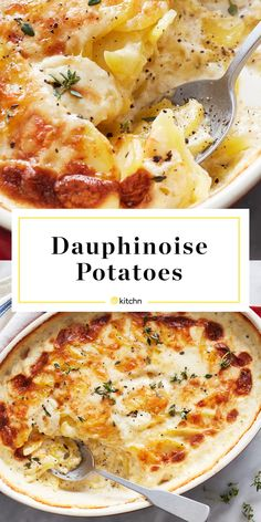 A classic French side dish (similar to potatoes au gratin) made with heavy cream, shredded Gruyère cheese, and sliced potatoes. Potato Dishes, Potato Recipes, French Side Dishes, Potatoes Au Gratin, Sliced Potatoes, Cooking Recipes, Cooking Dishes, Food Dishes, Dinner Ideas