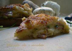 Tortino con patate zucchine e prosciutto