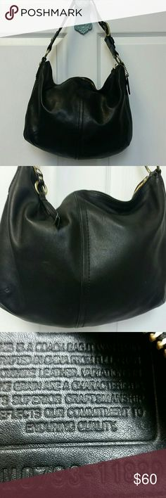 Coach  Large. Black leather soho. Coach  Large. Black leather soho. Great used condition. Super soft leather. No rips, stains or smell. Coach Bags Shoulder Bags