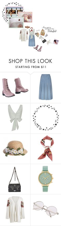 """""""iced sweet tea in a jug, and pastel dreams in a motel bed"""" by whimsical-angst ❤ liked on Polyvore featuring CUPLÉ, Gucci, Kalita, Camp, WALL, Jimmy Choo, Journee Collection and Franklin"""