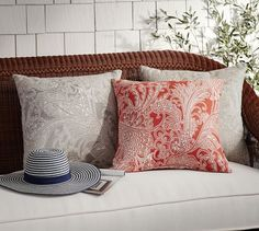 Sunbrella® Radnor Indoor/Outdoor Pillow | Pottery Barn $70. Sigh.