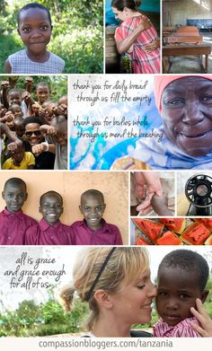 Thank you, Kelli, Amy, Scott, Maggie, The Nester and Jolanthe - Compassion trip to Tanzania May 2012