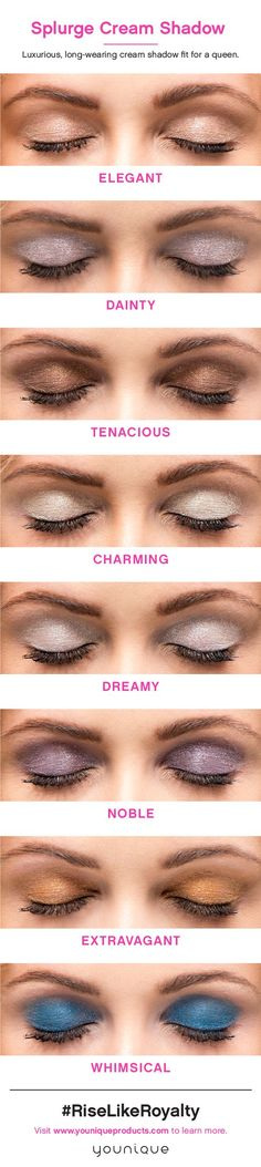 Are you feeling noble? Tenacious? Extravagant? Whimsical? There's a Splurge Cream Shadow for that!