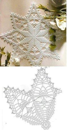 Lovely Crochet Heart Doilies Free Patterns Great for . Crochet Snowflake Pattern, Crochet Stars, Crochet Doily Patterns, Crochet Snowflakes, Thread Crochet, Crochet Designs, Knitting Patterns, Crochet Dollies, Crochet Flowers