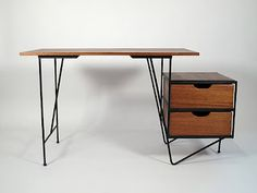 Just in Modern: Vista of California Floating Top Desk Circa 1950's