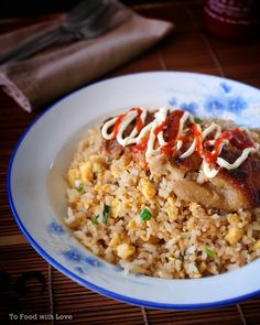 In my previous post, I made a Miso Grilled Chicken which I served with garlic fried rice. The recipe for the fried rice is really simple. Entree Recipes, Side Recipes, Cooking Recipes, Savoury Recipes, Dinner Recipes, Japanese Rice Dishes, Japanese Food, Chinese Food, Garlic Fried Rice