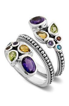 Samuel B Jewelry Stainless Steel Multi Gemstone Bypass Steel Ring , Shopping Websites, Gemstone Rings, Mens Fashion, Anime Art, Stainless Steel, Accessories, Jewelry, Jewelery, Moda Masculina