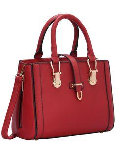 Fashion Handbags, Tote Handbags, Purses And Handbags, Fashion Bags, Leather Handbags, Red Shoulder Bags, Shoulder Handbags, Red Handbag, Beautiful Handbags