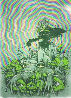 Stay Trippy ॐ Hippie Love, Hippie Art, Hippie Peace, William S Burroughs, Trippy Eye, Dope Kunst, Acid Art, Psy Art, Mushroom Art