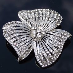 Stunning Vintage Crystal Bridal Brooch by JulesJewellery on Etsy, $39.00