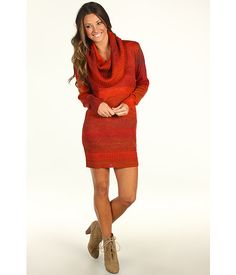 942963d17a0ab Michael Stars Ombre Marl Cowl Sweater Dress Pull