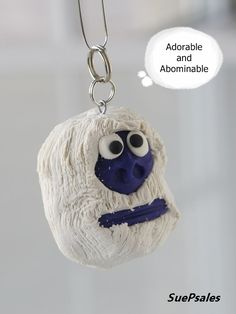 Bumble Abominable Snowman Christmas Ornament or by SuePsales #Bumble #PolymerClayOrnament