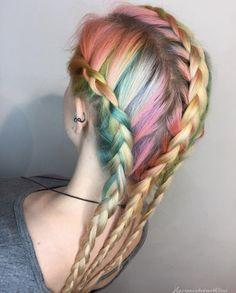 Regenbogen Haarfarbe Ideen, Können Sie Einfach Definieren Sie Ihre Sommer