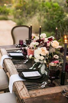 Rustic Chic! LOVE the stark gray and black