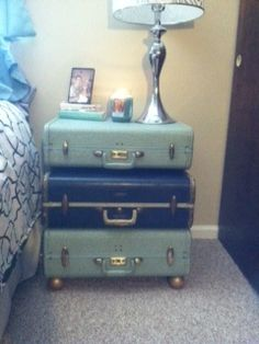 anything can be pretty and work out perfectly. even if your nightstand is suitcases:)