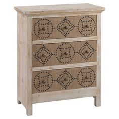Showcasing 3 drawers and a rustic design, this eye-catching chest is perfect for stowing entryway essentials or den entertainment accessories.
