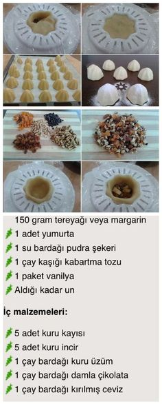 Atom kurabiye - Just Pin Festive Bread, Cookie Recipes, Dessert Recipes, Delicious Desserts, Yummy Food, Arabic Food, Turkish Recipes, Food Design, Sweet Recipes