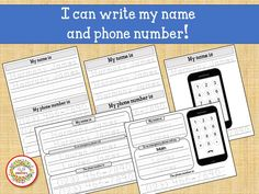 Kids Name Tracing Worksheet, Learn to Write Name, Learn Phone Number, Child's Name, Personalized Worksheets, Custom Worksheets Name Tracing Worksheets, First Grade Worksheets, Handwriting Worksheets, Tracing Letters, Handwriting Practice, Printable Worksheets, Learning To Write, Learning Resources, Teaching Ideas