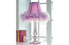 Unapologetically feminine, the Auren table lamp will delight your ultimate girly girl. Feather rim and satiny sheen fabric are so pretty in pink. Girls Bedroom Furniture, Kids Bedroom, Bedroom Decor, Bedroom Ideas, My New Room, My Room, Teen Girl Crafts, Acrylic Table, Teen Girl Bedrooms