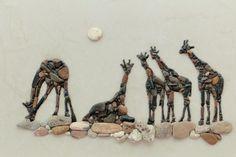 Giraffes от PEBBLEMOSAICS на Etsy