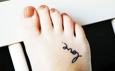 Charming Black Foot Quote Tattoos for Girls - Small Foot Quote Tattoos for Girls