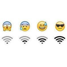wifi, emoji, and funny image
