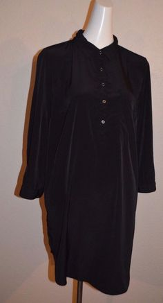 5c585ba4b30 Details about LADIES FOREVER21 TUNIC LONG BLOUSE SIZE XL BLACK COLOR 3 4  SLEEVE