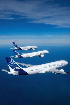airviation: Airbus formation flight A330, A350 XWB, A380