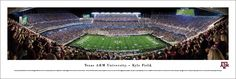 Texas A&M Aggies Football Panorama - Kyle Field Picture - Unframed $29.95