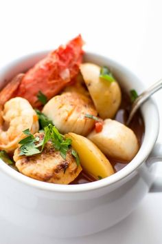 Crockpot Spicy Seafood Stew: We used crab, scallops and shrimp and added a little salt at the end.