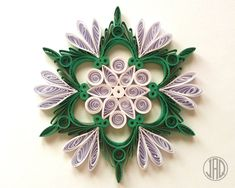 Nature Friendly Quilled Paper Decorations by JeAdoreQuilling Neli Quilling, Quilled Roses, Quilling Paper Craft, Quilling Cards, Paper Crafts, Quilling Patterns, Quilling Designs, Quilling Ideas, Paper Decorations