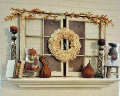 Creations by Kara: 30+ Beautiful Fall Mantel Displays