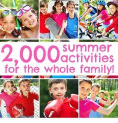 a GAZILLION summer ideas and activities!!