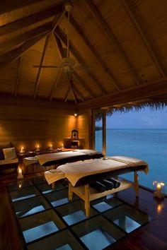 I want a massage here❤️ Conrad in Maldives , Rangali Islands !!!!