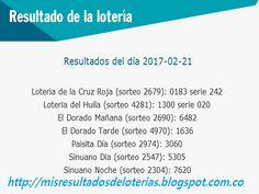 Resultado de la Lotería: Últimos Resultados de la Lotería -Resultados del c...