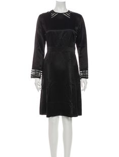 Dress Outfits, Dresses, Marc Jacobs, Crew Neck, High Neck Dress, Clothes For Women, Long Sleeve, Black, Fashion