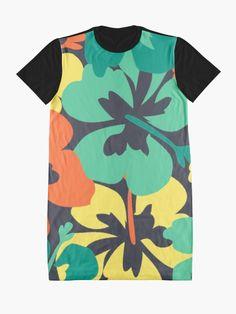 """Flower Print, Flower Pattern"" Graphic T-Shirt Dress by MsD7 | Redbubble Flower Prints, Flower Patterns, Shirt Dress, T Shirt, Chiffon Tops, Crew Neck Sweatshirt, Mini Skirts, Women's Fashion, Casual"