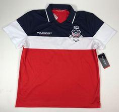 Ralph Lauren Polo LARGE Sport USA Jersey Performance Shirt Color Block NWT $125 #PoloSportRalphLauren #Jerseys