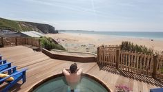 Watergate Bay, Cornwall, Uk #hottub