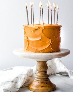 the smoothest buttercream with the intense flavor of caramelized white chocolate Frosting Recipes, Cake Recipes, Caramelized White Chocolate, Two Layer Cakes, White Chocolate Buttercream, Different Cakes, Stick Of Butter, Let Them Eat Cake, Beautiful Cakes