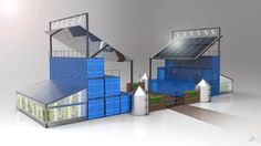 shipping container farms | Tumblr ... #Aquaponics #Hydroponics #Gardening #Design