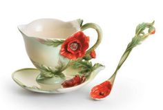 Franz Porcelain  Poppy Cup and Saucer