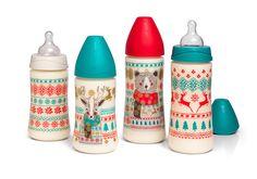 Tous les #biberons 270 et 360ml de la collection Winter de #Suavinex #puericulture #bébé #hiver #Noël #biberon