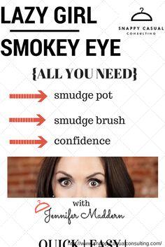 Short on time?  #humpdayhowto  Lazy Girl Smokey Eye! #snappysolutions #jennymaddern #simplesnappysolutions https://www.youtube.com/watch?v=KI3Ht6REuaU&list=PLmWp5BtEy3Snv4V9YwmQK-fIbIknOA4Ho&index=20