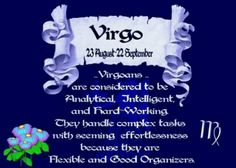 People born under the sign of Virgo are often happy to be alone, providing they know that they are needed and appreciated by others. In fact, the most important thing to Virgo people is service. Virgo Girl, Gemini And Virgo, Virgo Women, Virgo Zodiac, Zodiac Signs, Zodiac Memes, Tokio Hotel, September Birthday, Birthday Month