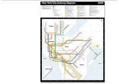 Massimo Vignelli - Transportation Graphics - New York City Subway Diagram, 2008