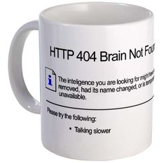 Geeky Glitch Mugs - The 404 Error Mug Serves Up Computer Humor with Your Morning Brew