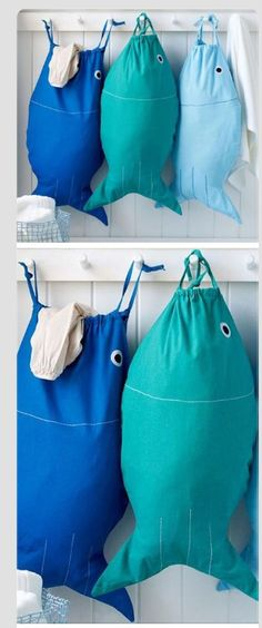 Make fish bags Couture diy deco Handmade